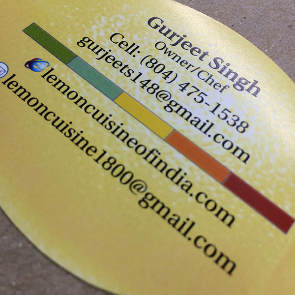 Flash die cut business card